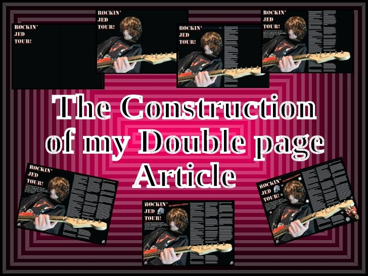 The Construction of my Double page Article