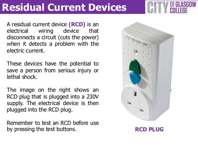 Residual Current Device : Construction electrical safety