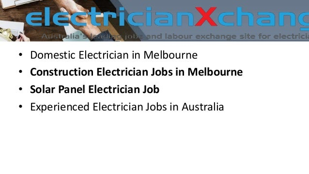 Construction electrician jobs in melbourne