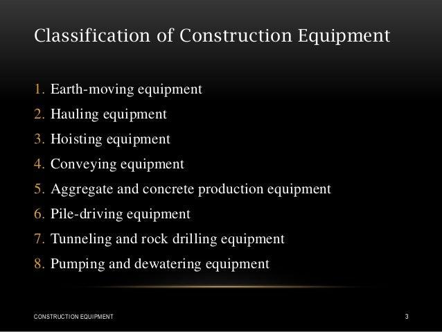 4 types of hauling equipment.