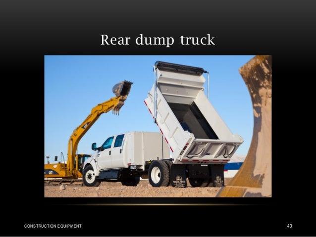 Rear dump truck CONSTRUCTION EQUIPMENT 43