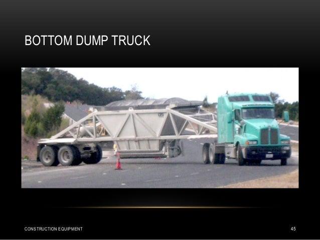 BOTTOM DUMP TRUCK CONSTRUCTION EQUIPMENT 45