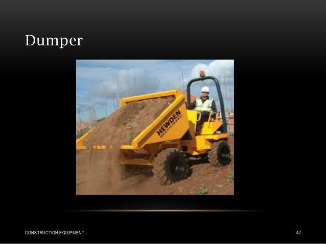 Dumper CONSTRUCTION EQUIPMENT 47