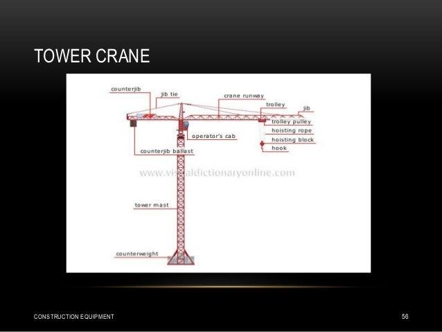 TOWER CRANE CONSTRUCTION EQUIPMENT 56