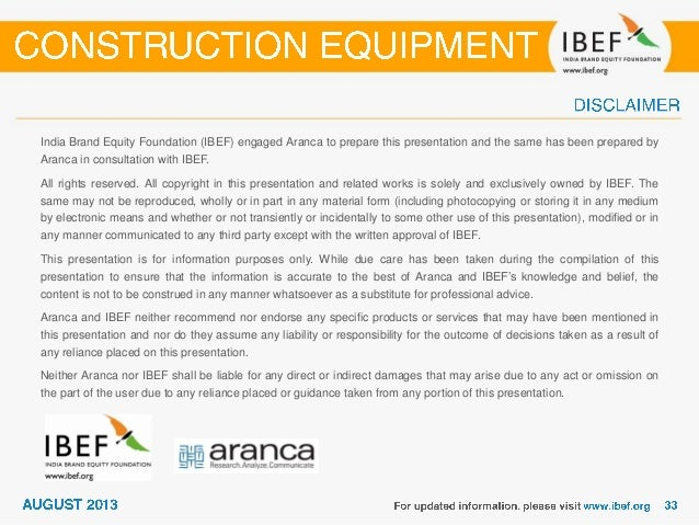 India : Construction equipment Sector Report_August 2013