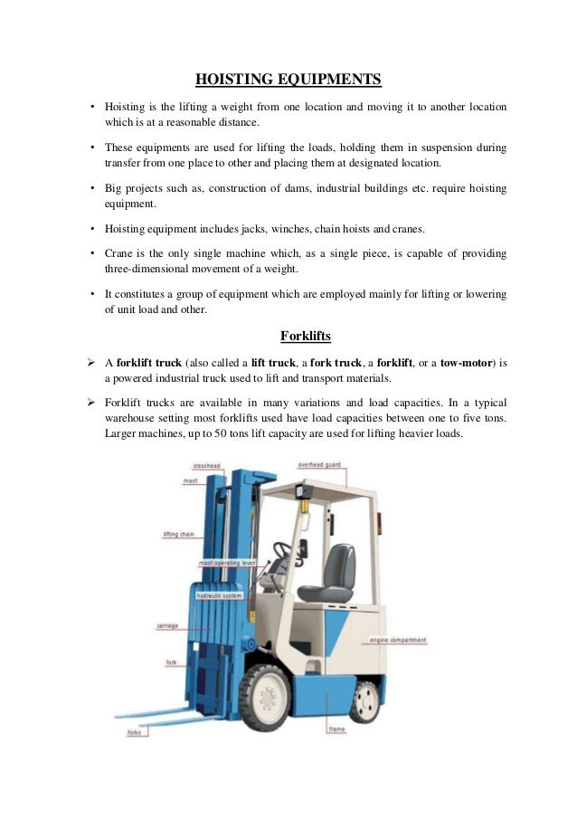 Construction Equipments Introduction And Classification