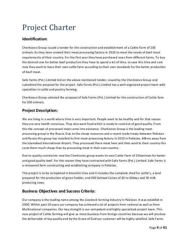 example project charter for the construction of a dwelling house: Example project charter for the construction of a dwelling house