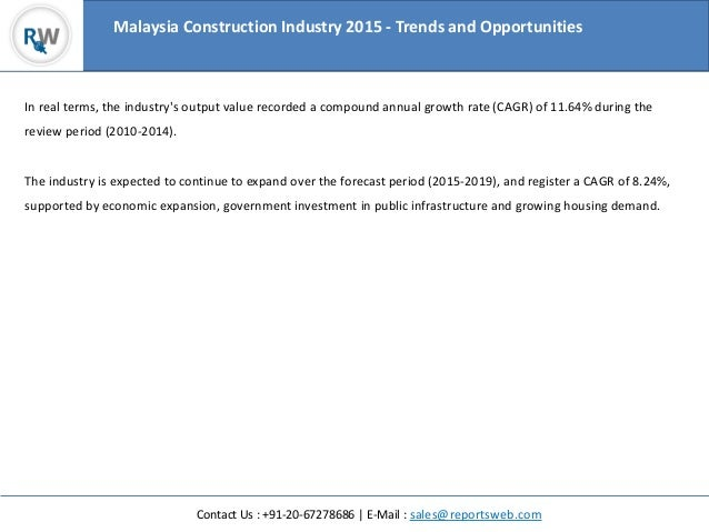 analysing the malaysian construction industry construction essay We will write a custom essay sample on any topic specifically for you for only   construction industry are expected to follow with the proviso of the act such as   to analyze the ordinances and torahs of osha 1994 that had implemented in.
