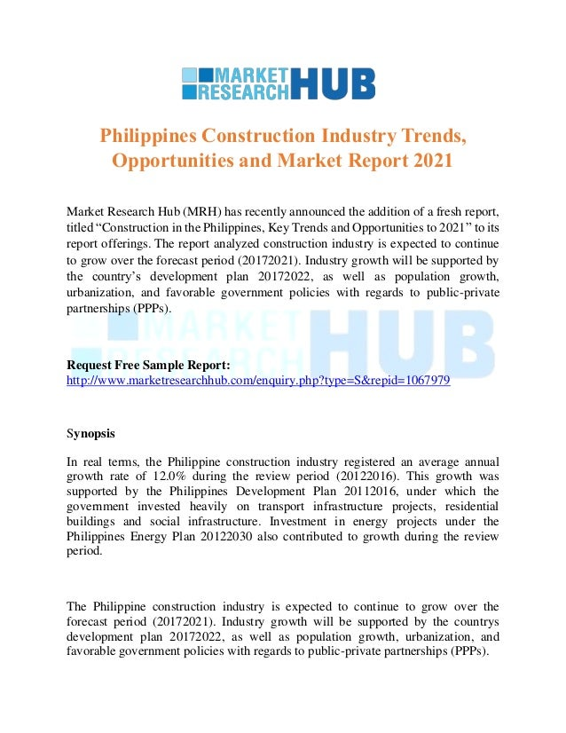 Philippines Construction Industry Trends, Opportunities and