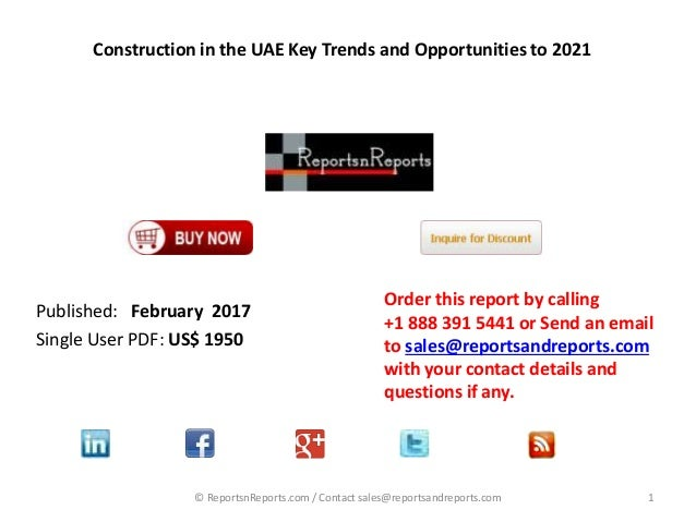 Construction in the UAE Key Trends and Opportunities with