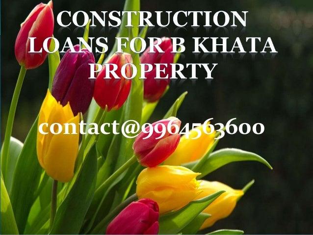 b khata site loans in bangalore dating