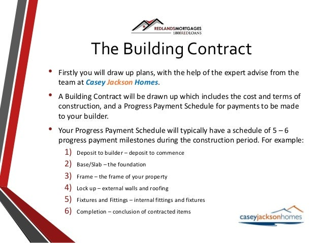Construction home loans for Construction loan draw schedule