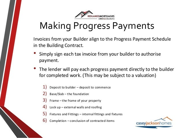 Construction home loans for Construction disbursement schedule