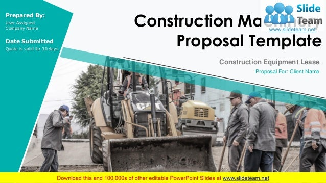 Construction Machinery Proposal Template Powerpoint