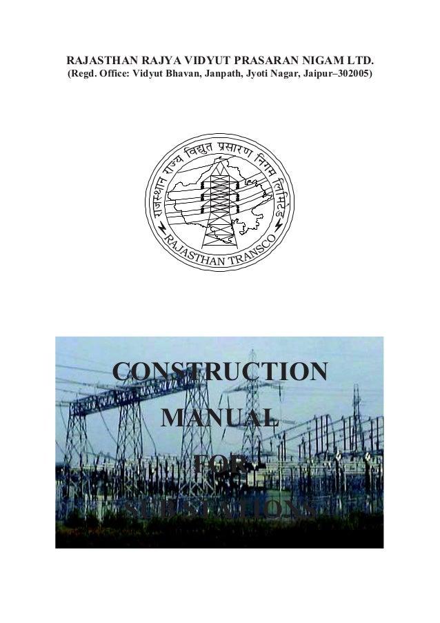 RAJASTHAN RAJYA VIDYUT PRASARAN NIGAM LTD. (Regd. Office: Vidyut Bhavan, Janpath, Jyoti Nagar, Jaipur–302005) CONSTRUCTION...
