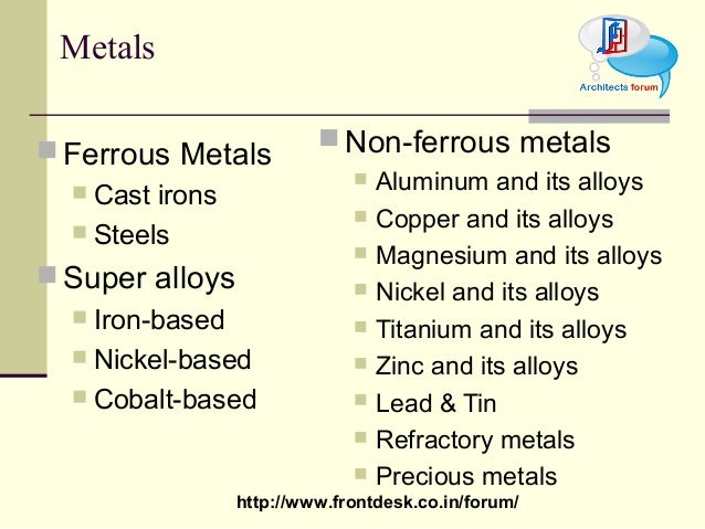 Construction Material Ferrous Metal Amp Alloy