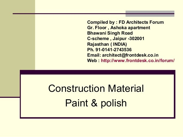 Construction Material Paint