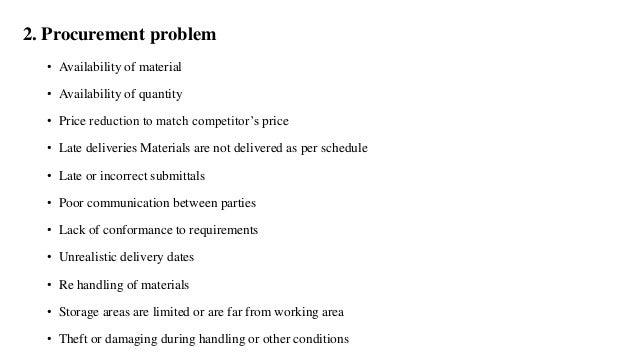 Construction Material Management