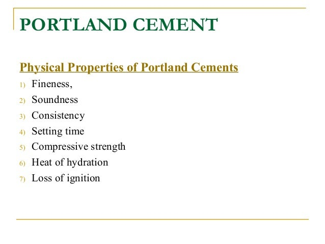Loss On Ignition Cement : Construction materialsconcrete