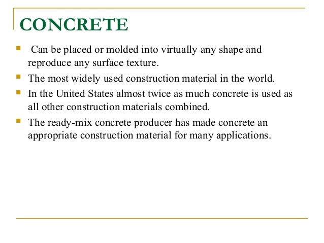 concrete as a construction material pdf