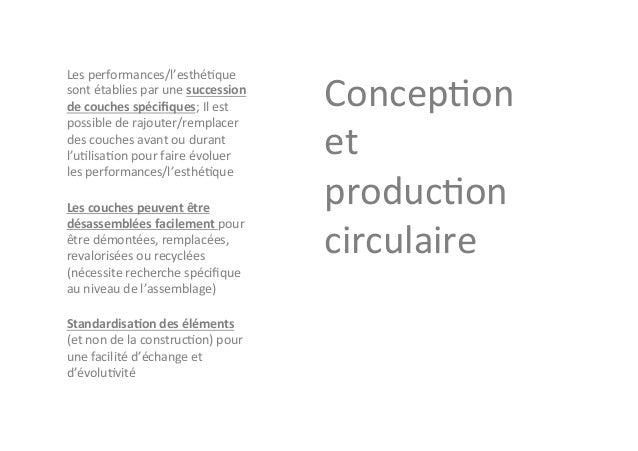 CYCLE  DE  VIE  Produc+on,  Performances,  Transforma+ons