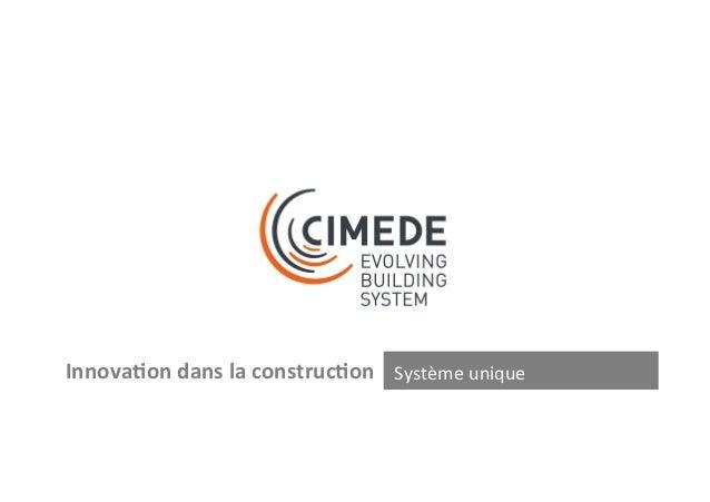 (3)  ZOOM  Caractéris+ques  Système  construc-f  CIMEDE  Cloisons