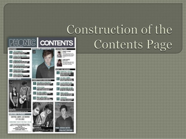 For my title and inclusion of the masthead in my contents page, I have taken inspiration from Q magazine by placing a bloc...