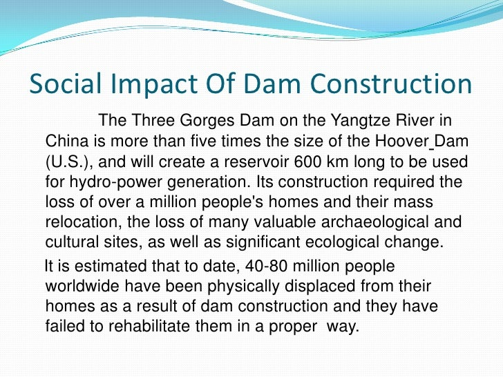 an introduction to the effects of dams Probable effects on aquatic biodiversity and ecosystem function of four proposed hydroelectric dams in the changuinola introduction four hydroelectric dams.