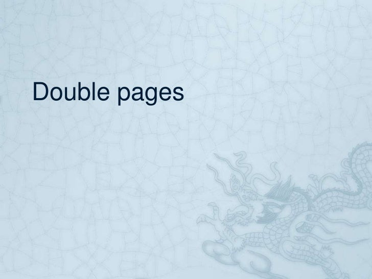Double pages
