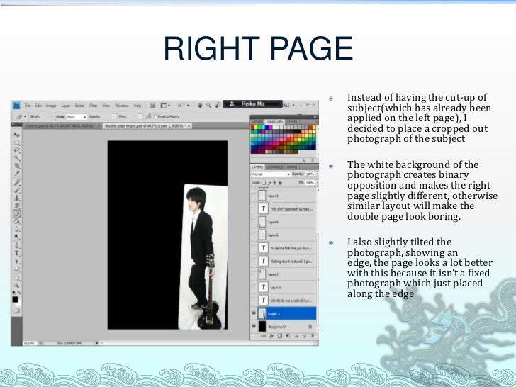 RIGHT PAGE           Instead of having the cut-up of            subject(which has already been            applied on the ...