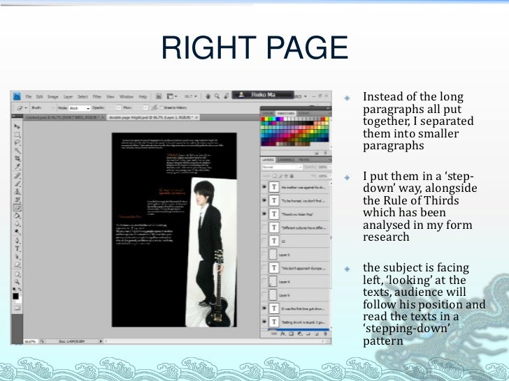 RIGHT PAGE            Instead of the long             paragraphs all put             together, I separated             th...