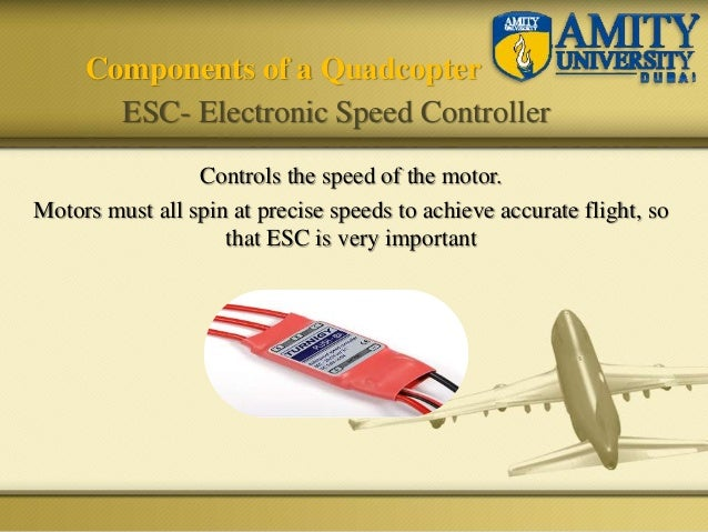 Controls the speed of the motor. Motors must all spin at precise speeds to achieve accurate flight, so that ESC is very im...