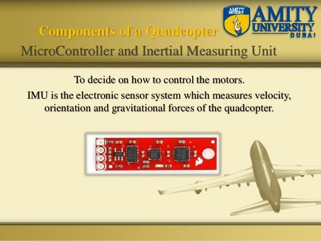To decide on how to control the motors. IMU is the electronic sensor system which measures velocity, orientation and gravi...