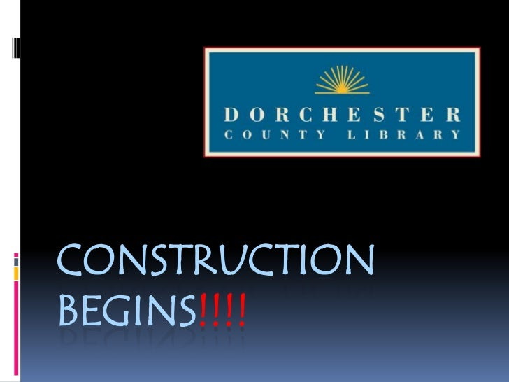 Construction Begins!!!!<br />
