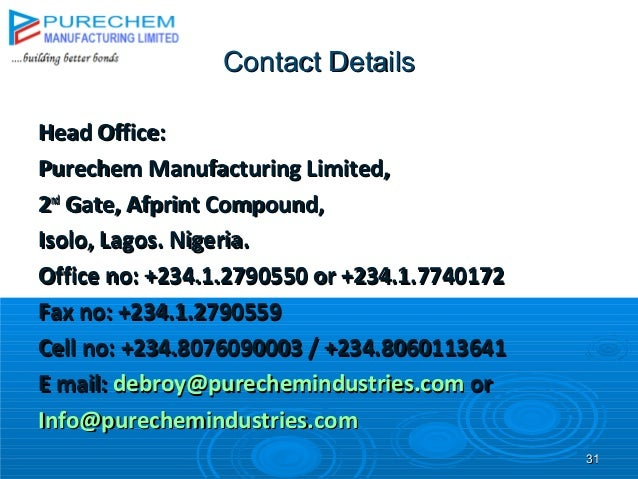 Purechem Construction Group Presentation