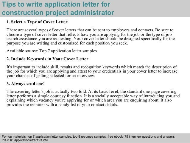 ... 3. Tips To Write Application Letter For Construction Project  Administrator ...