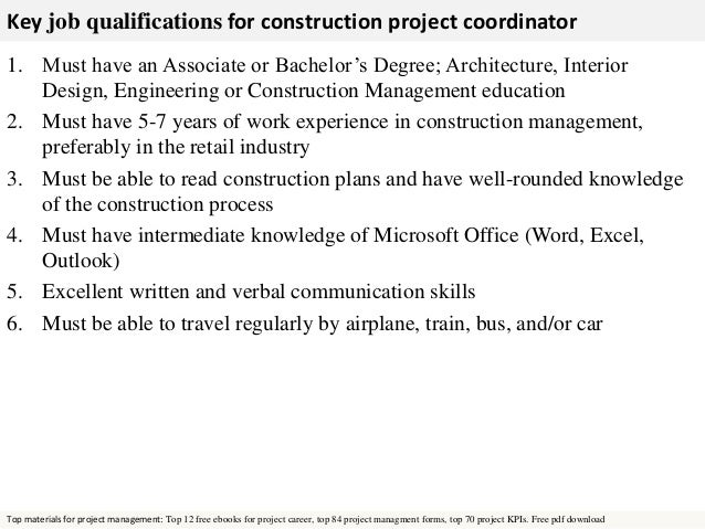 Construction Project Coordinator