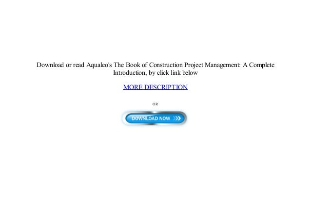 Free Ebook Construction Project Management A Complete Introduction