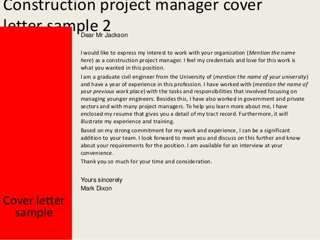 Captivating Construction Project Manager ...