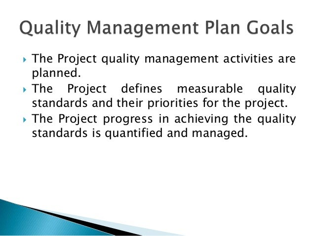 quality management plan for construction project