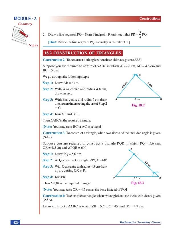 Constructions Geometry