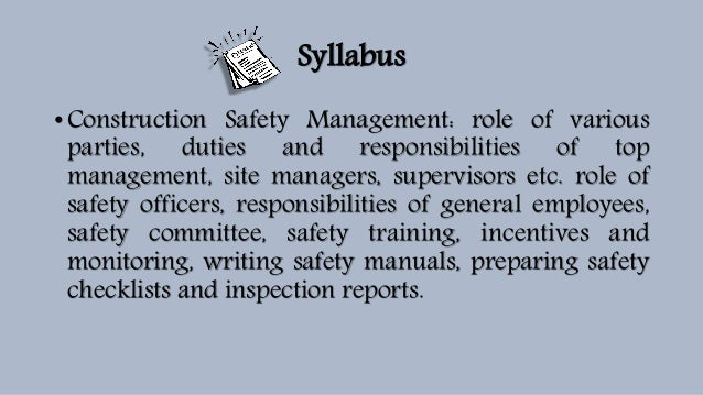 safety officer duties and responsibilities pdf
