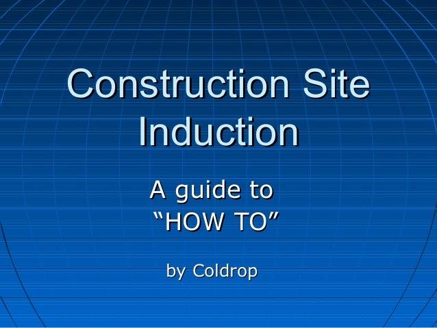 construction site induction, Presentation templates