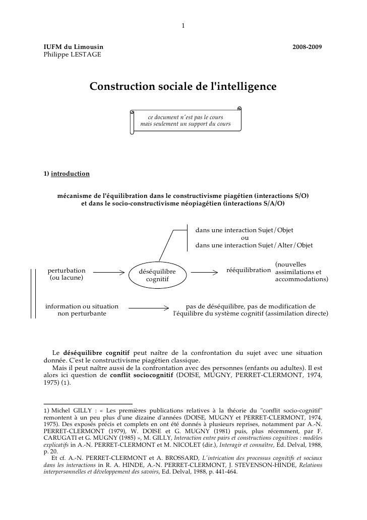 1IUFM du Limousin                                                                           2008-2009Philippe LESTAGE     ...