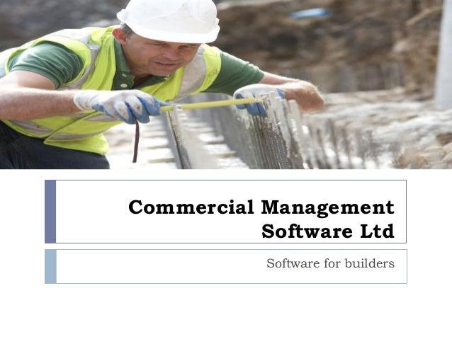 Commercial Management Software Ltd Software for builders