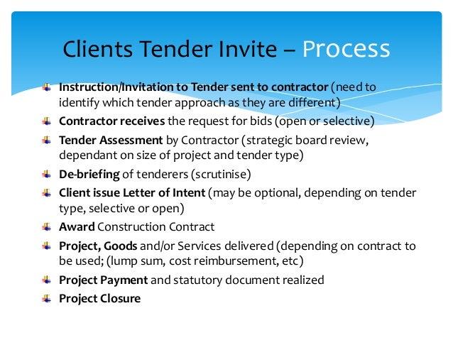 construction tender process
