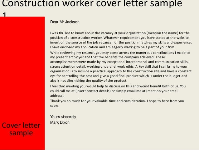 Construction worker cover letter for How to write a cover letter for construction job