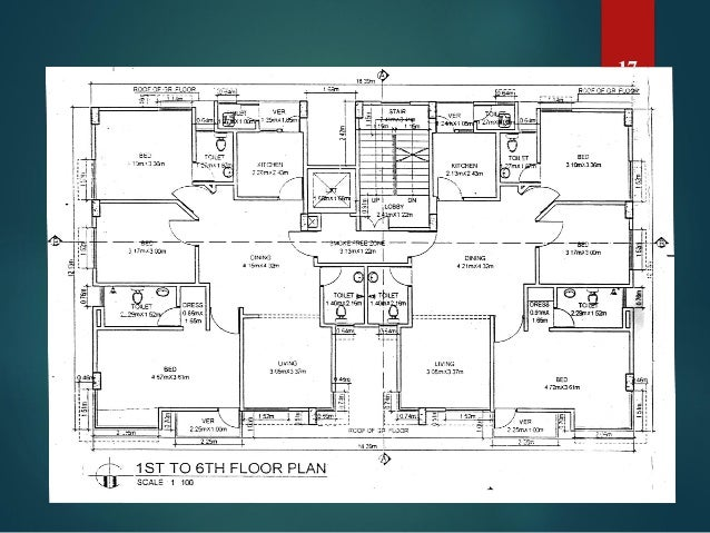 Construction work of a multi storied residential building Residential building plan sample