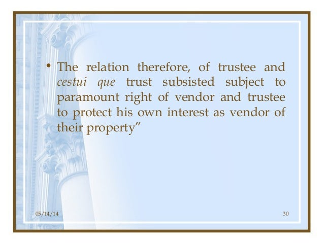 Constructive Trustee And Personal Property