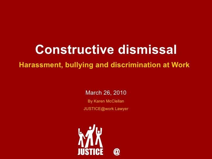 constructive dismissal